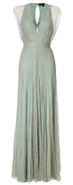 Jenny Packham Beaded Vneck Gown                                                                                                                                                                                 More