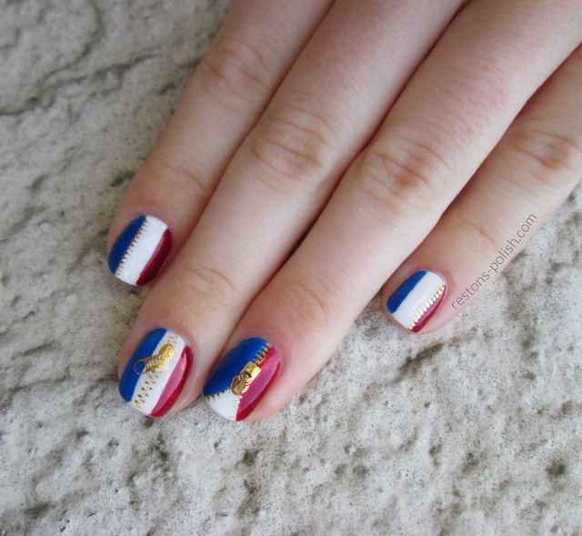 Nail art drapeau France 4,1 % remboursés chez Sephora http://petitlien.com/78p7