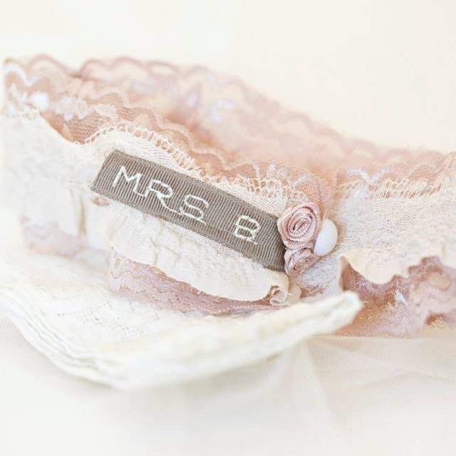 Unique, personalised, vintage-style wedding garters. Email Lovetheoryza@gmail.com to order or for more info