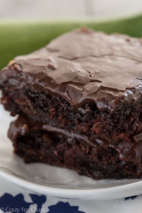 Zucchini Brownies - especially the frosting recipe!