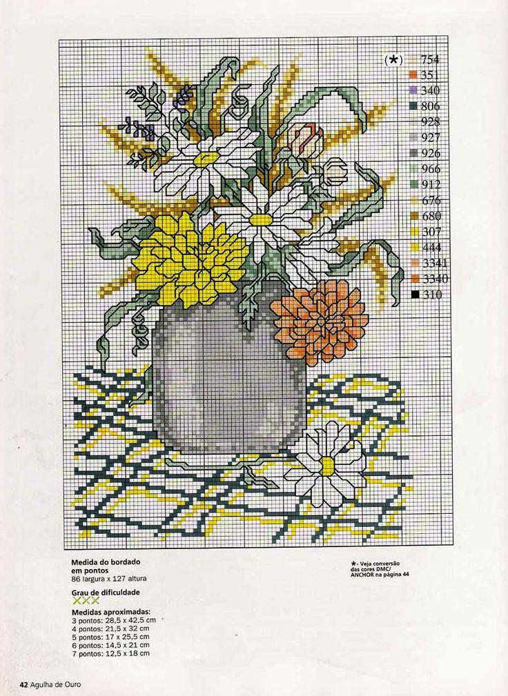 vaso di fiori vari