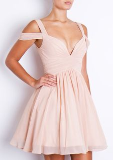 FOREVER UNIQUE BARDOT PROM NUDE > Shop online at: http://www.theendboutique.com/forever-unique-bardot-prom-nude/