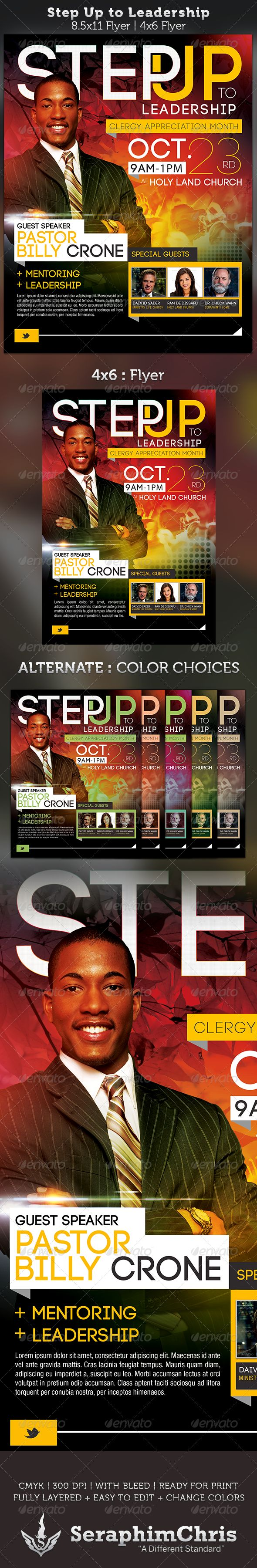 17 best images about flyer designs flyer template step up to leadership church flyer template