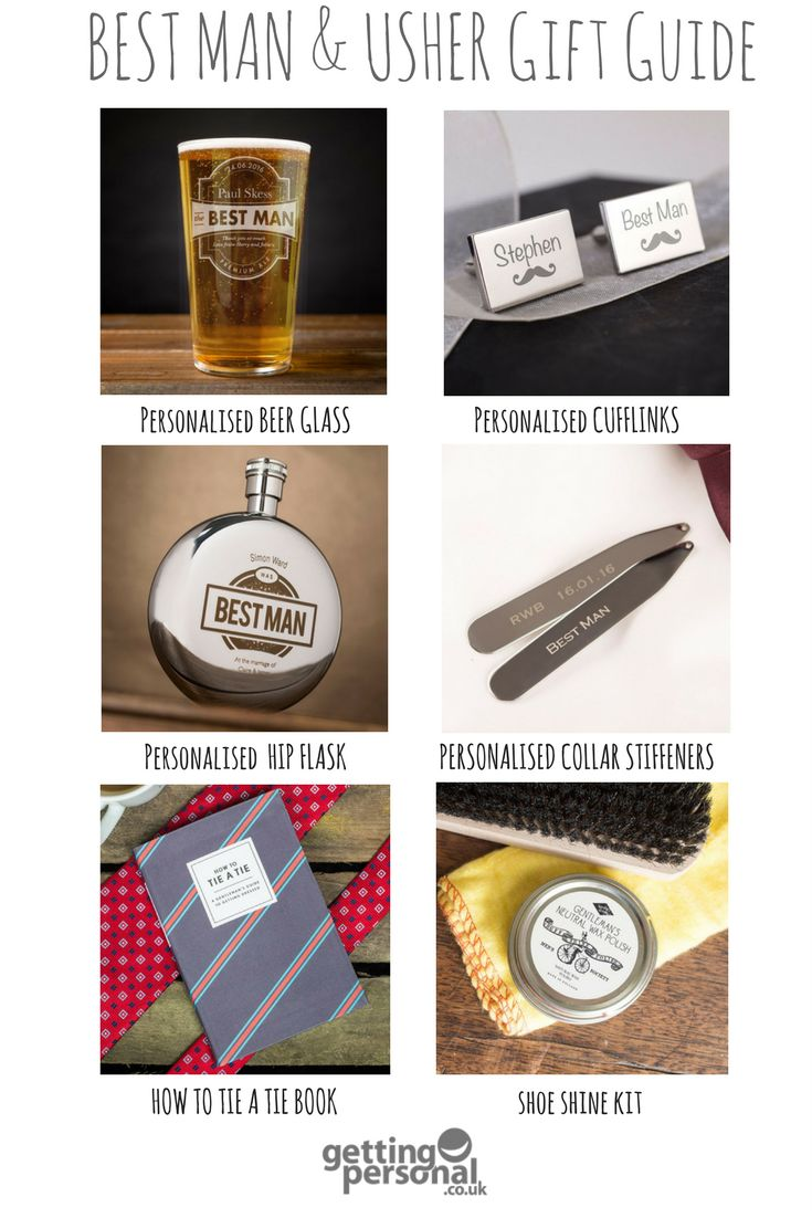 From Pint Glasses For Your Usher To Personalised Cufflinks Best Man Books Page Boy Surprise Groomsmen With A Unique