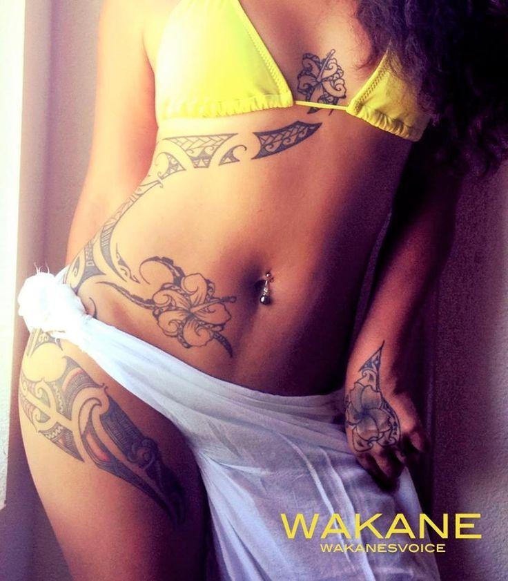 Hawaiian tattoo by Alika Kekua from Oahu Ta moko(Maori tattoo) by Iata Peautolu from Aotearoa Tat | tattoos picture hawaiian tattoo