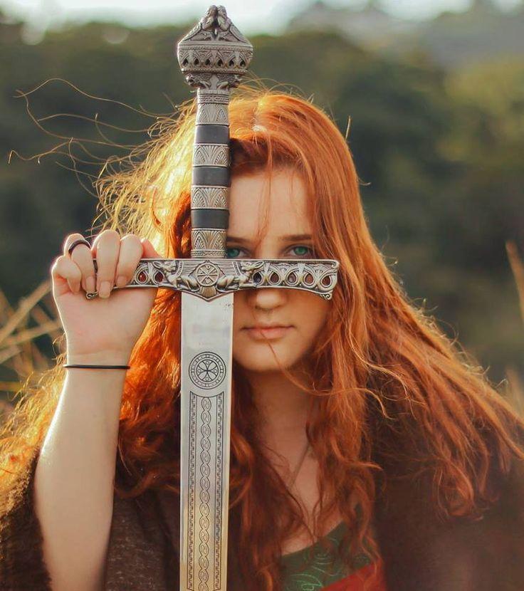 Celtic redhead