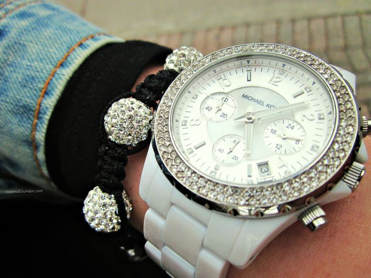 Black and white: Accessories Ideas, Arm Candy, Watches Women, Accessories Whore, Michaelkor, Fashion Accessories, Mk Watches, Michael Kors Watches, Accesories