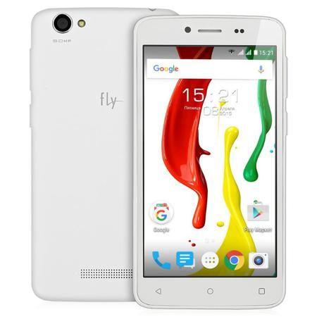 Смартфон Fly FS505 Nimbus 7 White+Gold, бело-золотой  — 3990 руб. —  Смартфон Fly FS505 Nimbus 7 оснащен 5.0 дисплеем и двумя слотами для SIM-карт, а также двумя камерами: тыловой камерой с разрешением 5 МП и фронтальной - с разрешением 1 МП. Он оборудован 8 Гб встроенной памяти и 512 Мб - оперативной, а также четырехъядерным процессором, что обеспечивает высокую производительность.