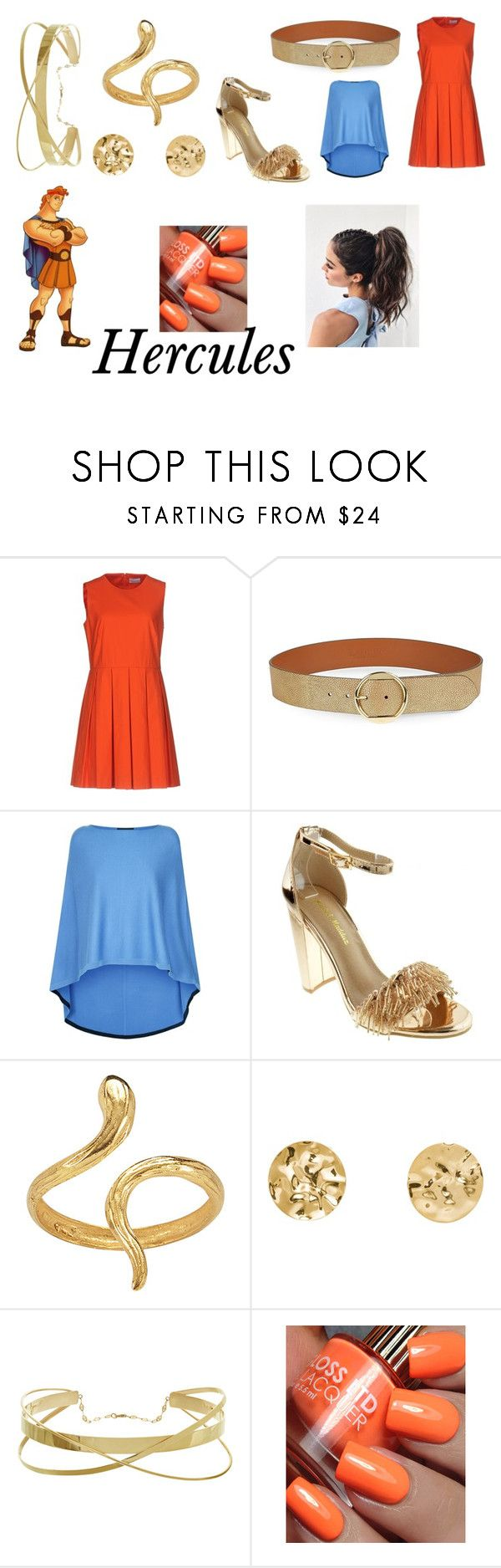"""""""Hercules"""" by jellymatias on Polyvore featuring RED Valentino, Lauren Ralph Lauren, St. John and Madina Visconti di Modrone"""