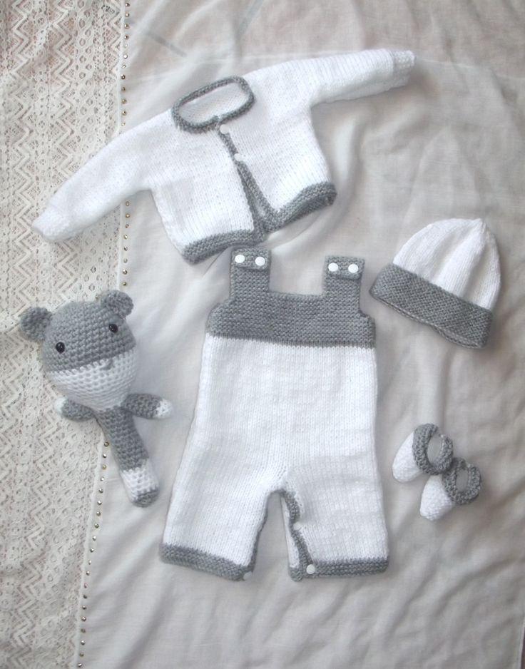 Ensemble naissance blanc et gris