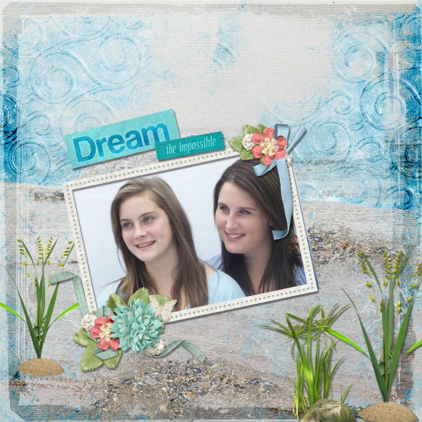 I used the freebie paper by Angie Campbell from Scrap Girls
