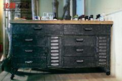 Американская страна, чтобы сделать старый ретро промышленный чердак сетка гостиной шкаф для хранения ящик стола шкаф Бар кабинет
