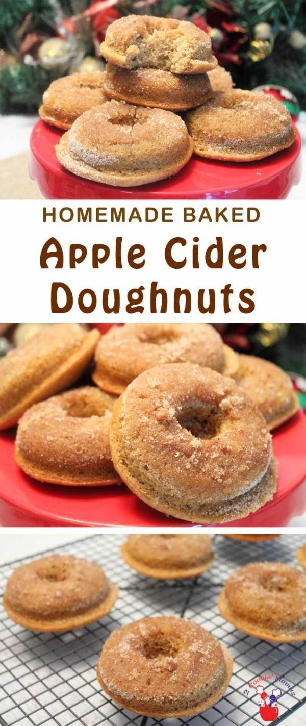 Baked Apple Cider Doughnuts | 2 Cookin Mamas Fresh-baked fluffy apple ...