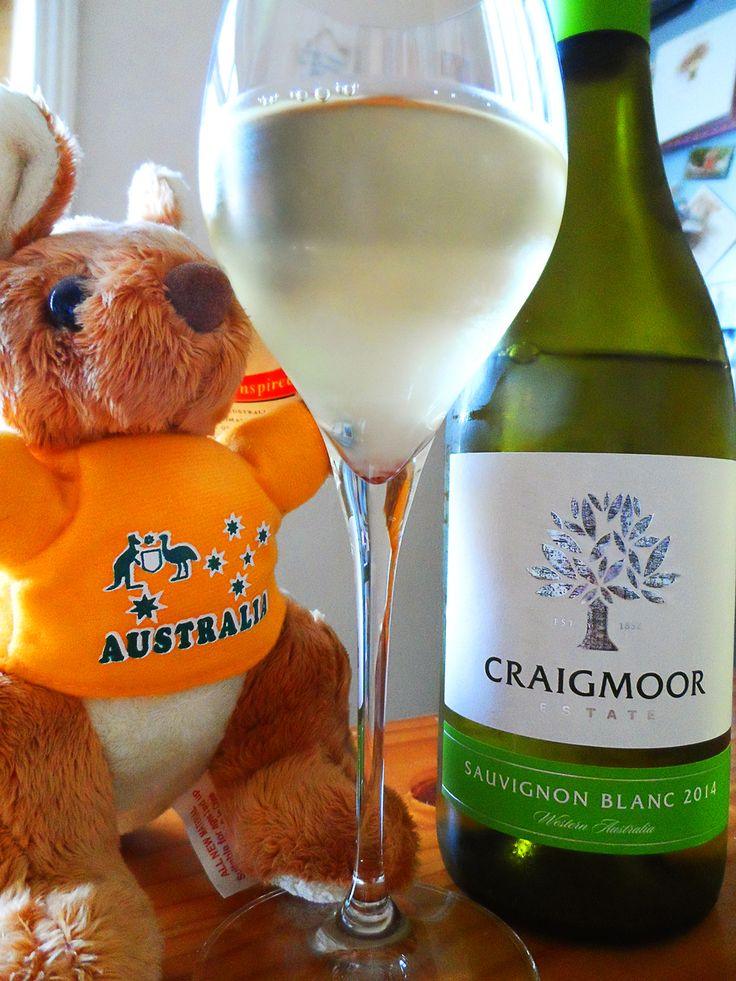 Happy Australia Day! Craigmoor Sauvignon Blanc white wine and our little kangaroo friend!