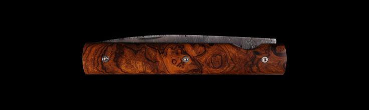 Couteau de poche Le Français lame damas bois de fer