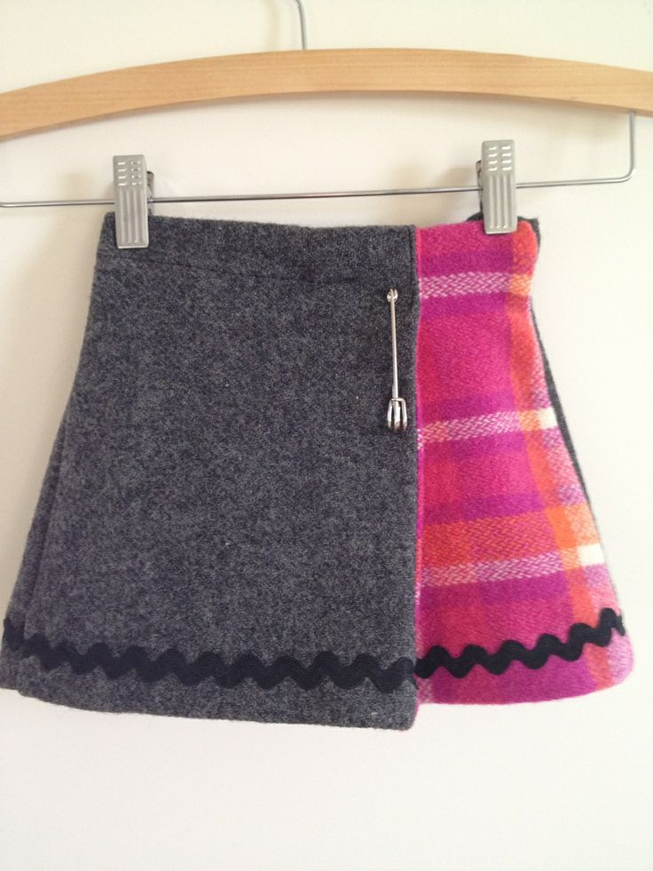 homemade upcycled skirts   Upcycled vintage woollen skirt Size 3 $35.00