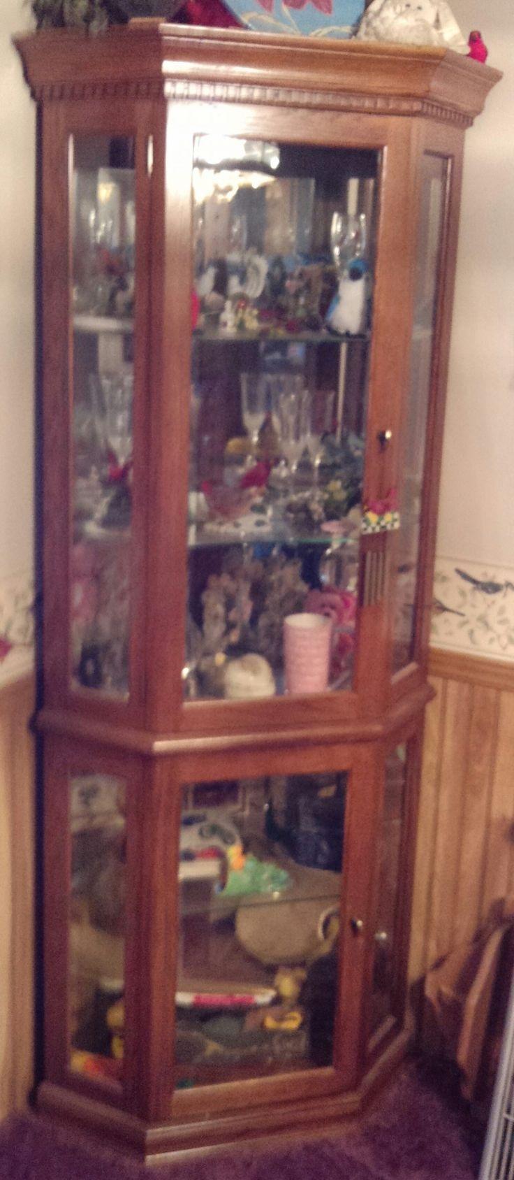 corner curio cabinet in movingon s Garage Sale in blaine