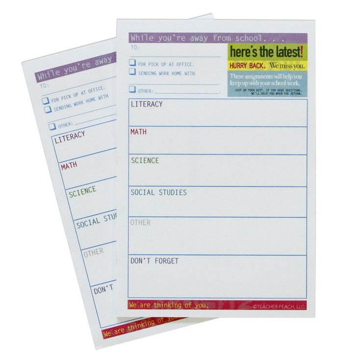 Homework Communication Sticky Notes, Set of 2 -It's easy for teachers to ensure the right homework get to the right students while they're absent from school with these handy homework communication sticky notes.