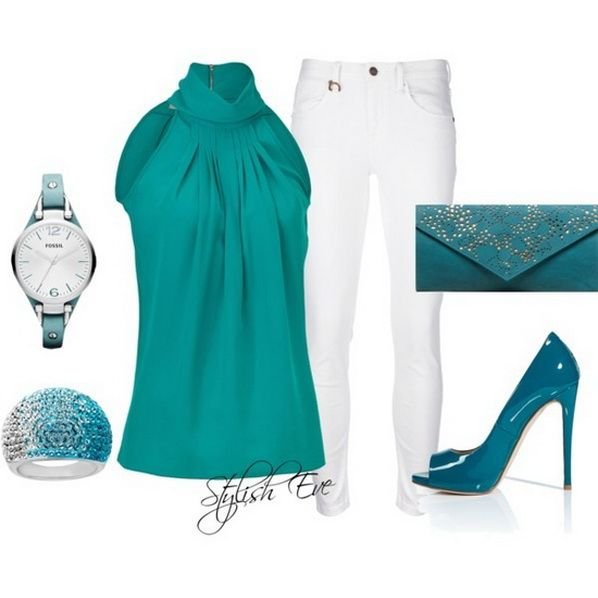 Blue is one of the greatest colors that you can wear in spring & summer. For ideas, check out this collection of blue outfits for spring/ summer 2013 for women!