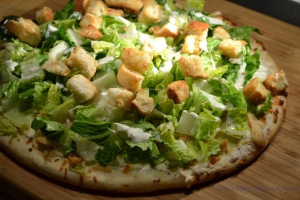 how to make chicken caesar pizza