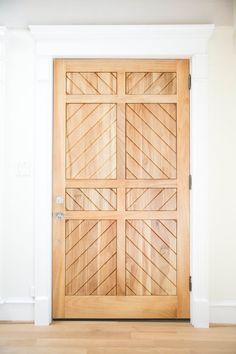 Beautiful light wood door   Amy Berry Design