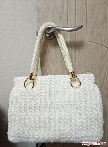 5e84b45024be978 Летняя сумка крючком из пряжи Ярнарт