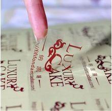 Código de barras personalizadas etiquetas impressão transparente PVC / PET adesivos à prova d ' água adesivo de papel de impressão marca dp107 LOGO(China (Mainland))