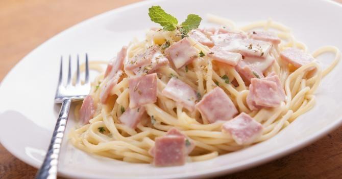 Spaghetti carbonara sauce 0%