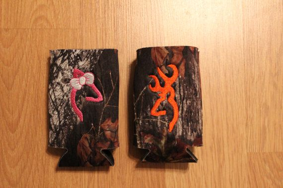 Groomsmen Koozies & Bridesmaid Personalized Camouflaged koozies
