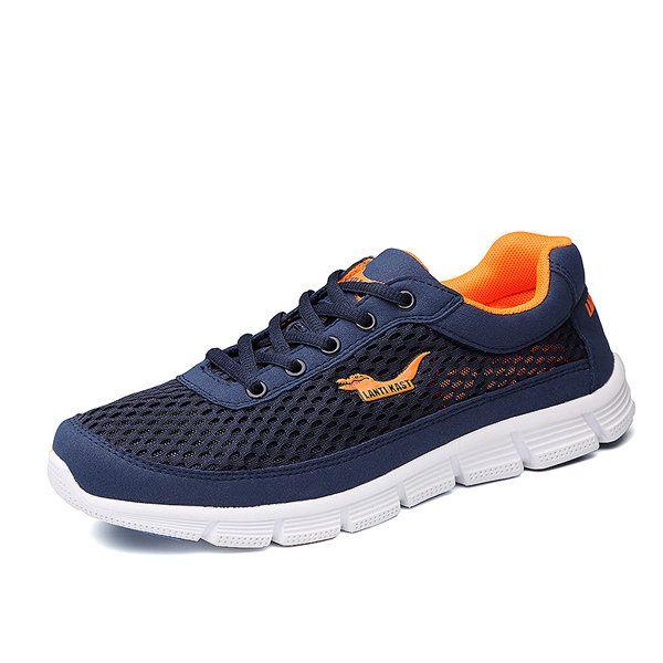 Men Sport Shoes Outdoor Mesh Breathable Comfortable Casual Lace-Up Athletic Shoe - US$37.96  #men #women  #shoes #fashion