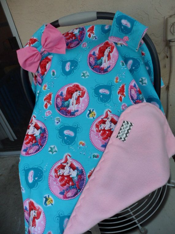 little mermaid carseat canopy.. car seat by ChiquitasBags on Etsy