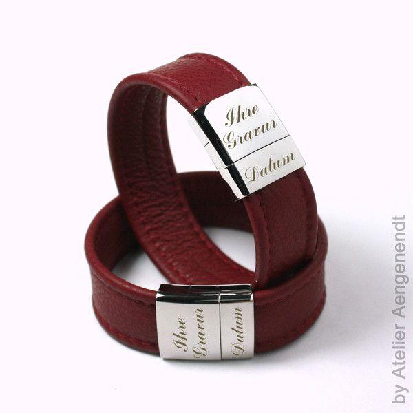 Armbänder - LA-N (R) Partnerarmband Armband Schmuck mit Gravur - ein Designerstück von Fotoschmuck24 bei DaWanda