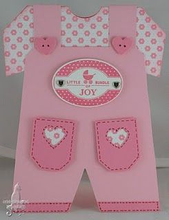 Litlle girl's overalls card. Gotta try this.
