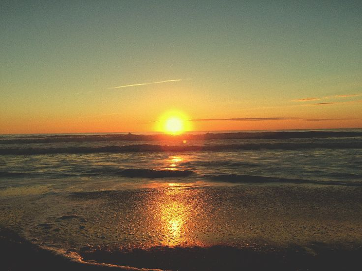 sunrise down the ocean. summer happiness