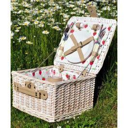 Asigura-i mamei tale fecioara linistea la iarba verde gratie unui cadou practic, un cos picnic 2 persoane, Fragola