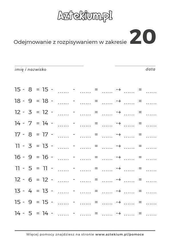 testy z matematyki dla pierwszoklasisty