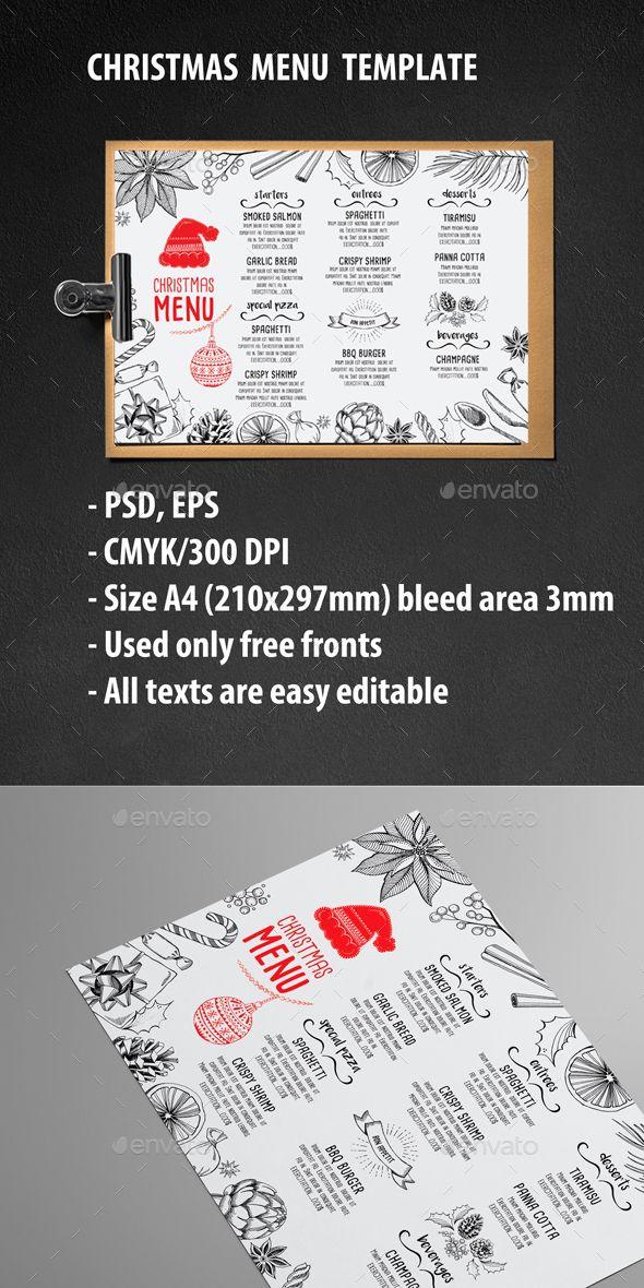 Christmas Menu Restaurant Template PSD, EPS #design Download: http://graphicriver.net/item/christmas-menu-restaurant/13317198?ref=ksioks