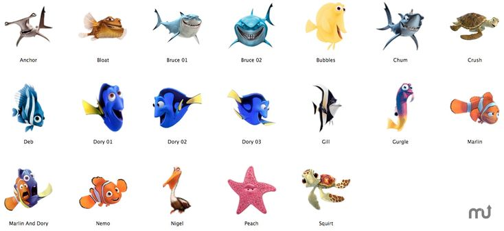 Finding Nemo Characters Google Search Finding Nemo