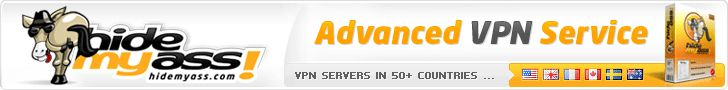 343 VPN servers in 53 countries  Hide behind 40'500+ IP addresses  OpenVPN, L2TP, and PPTP protocols  Free HMA! Pro VPN software  Supports PC, Mac, phone, tablets  Unlimited data transfer  30 day money back guarantee