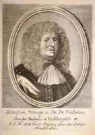 Frederick VI, Margrave of Baden-Durlach, lived 1617–1677, Margrave of Baden-Durlach from 1659 until his death. A maternal 2X great-grandfather of Catherine the Great.