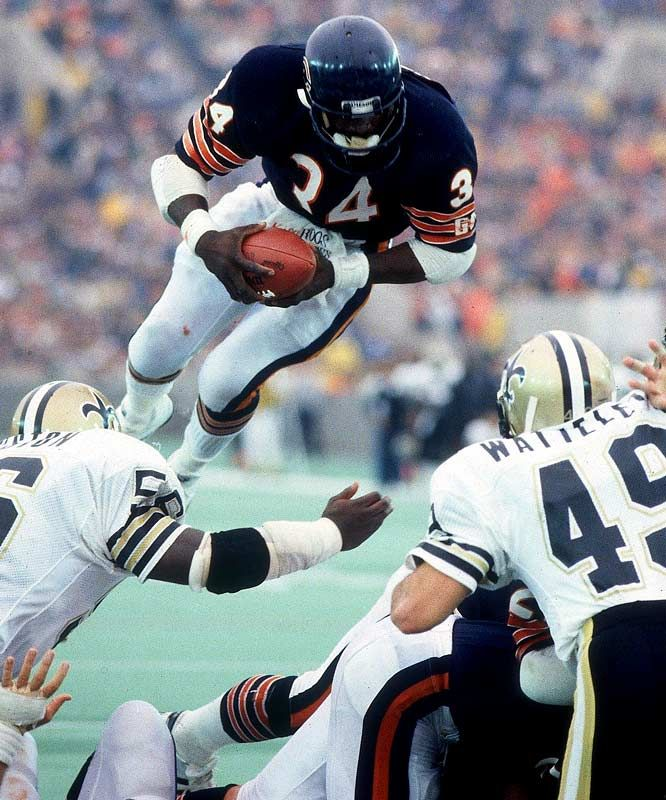 "Walter Payton "" sweetness"".....met the man once a true gentleman and a great football player."