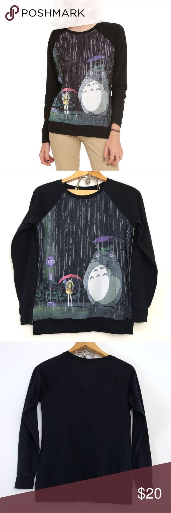My Neighbor Totoro Studio Ghibli Pullover Sweatshirt Tops Novelty Sweater Clothes Design [ 1740 x 580 Pixel ]