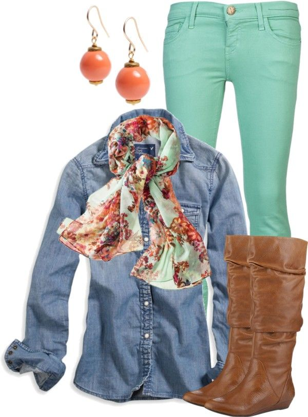 """Double Denim"" by qtpiekelso on Polyvore"