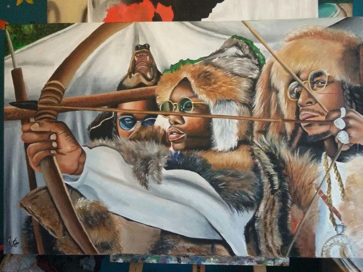 Migos Wallpaper Iphone Migos Art Hiphop Art Art Dope Art Und Artwork