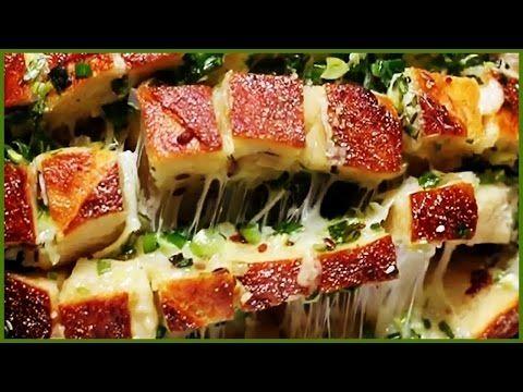Yeşil Soğan, Peynir ve Sarımsaklı Ekmek