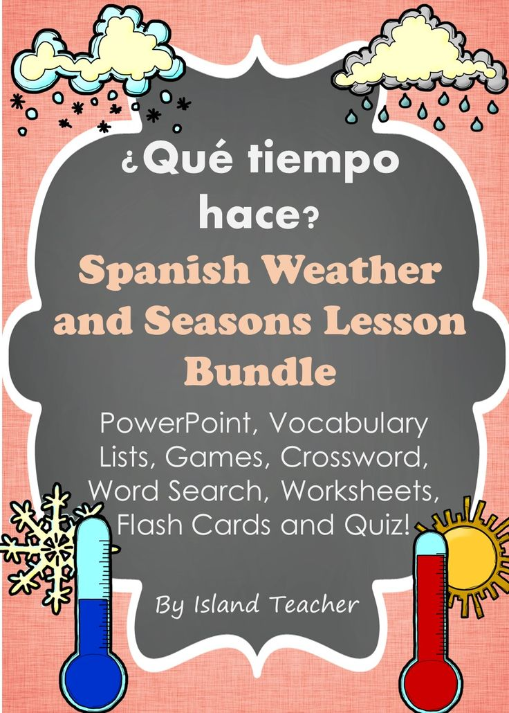 bundle of resources to teach spanish weather expressions and seasons island teacher resources. Black Bedroom Furniture Sets. Home Design Ideas