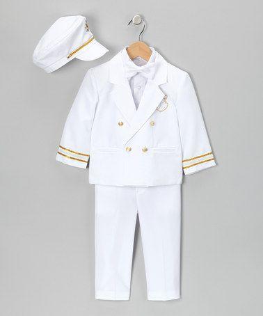 Look at this #zulilyfind! White 'Captain' Five-Piece Suit - Infant, Toddler & Boys by LA Sun #zulilyfinds