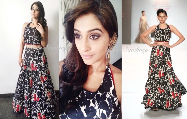 Top Indian fashion and lifestyle blog: South Actress Regina Cassandra in Designer Ulka Ba...