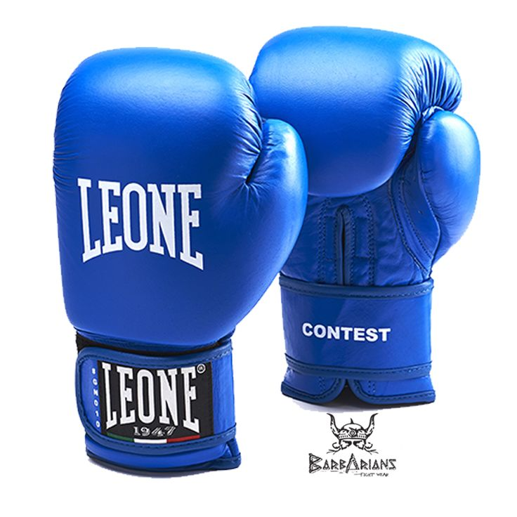"""Gants de boxe Leone 1947 """"Contest"""" Bleu http://www.barbariansfightwear.com/fr/gants-de-boxe-/515-gants-de-boxe-leone-1947-contest-bleu.html"""