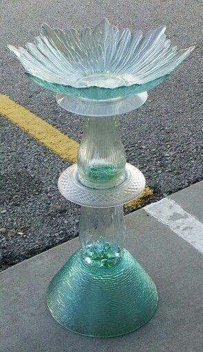 Repurposed birdbath: